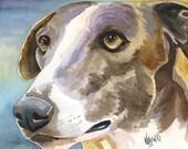 Greyhound Dog Art Signed print by Ron Krajewski