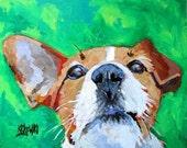 Jack Russell Terrier Art Print of Original Acrylic Painting 8x10