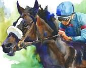Zenyatta Horse Original Watercolor Painting
