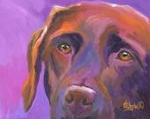 Labrador Retriever Art Print of Original Acrylic Painting - 8x10 Chocolate Lab