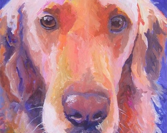 Golden Retriever Art Print of Original Acrylic Painting 11x14