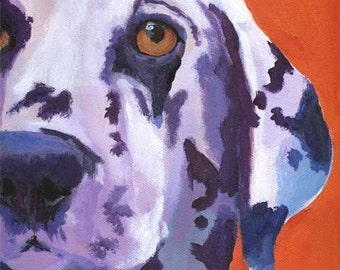 Dalmatian Art Print - from original acrylic painting -  11x14 signed by artist - dog art