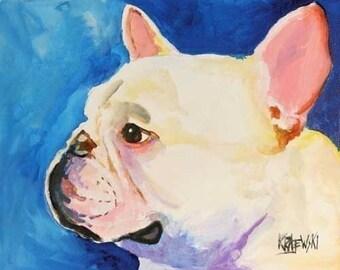 French Bulldog Art Print of Original Acrylic Painting - 8x10