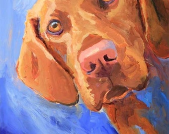 Vizsla Art Print of Original Acrylic Painting 11x14