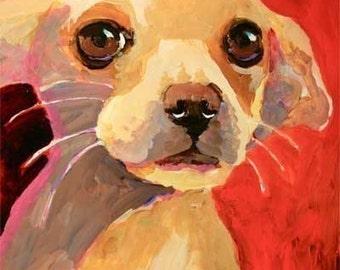 Chihuahua Art Print of Original Watercolor Painting - Dog Art 8x10