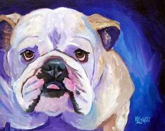 Bulldog 16x20 Original Acrylic Painting
