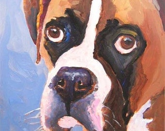 Boxer Dog Art Print of Original Acrylic Painting - 8x10