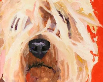 Wheaten Terrier Art Print of Original Acrylic Painting - 8x10
