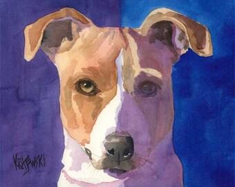 Jack Russell Terrier Art Print of Original Watercolor Painting 8x10