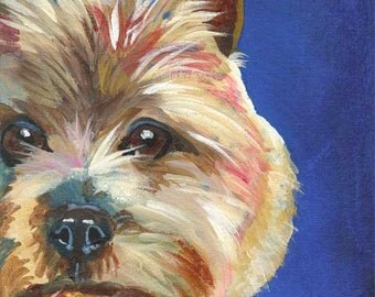 Cairn Terrier Art Print of Original Acrylic Painting 8x10