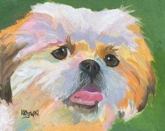 Shih Tzu Art Print of Original Acrylic Painting - 11x14 Dog Art