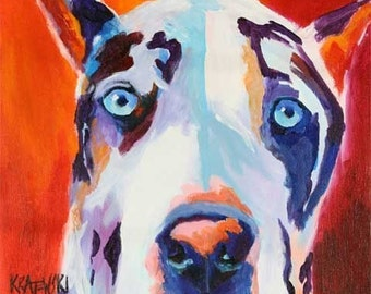 Great Dane Art Print of Original Acrylic Painting - 11x14 Dog Art
