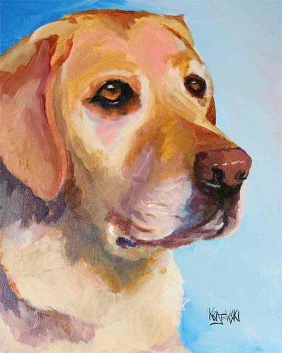 paintings adult golden labs