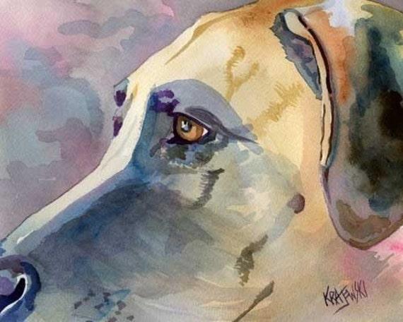 Great Dane Art print of Original Watercolor Painting - 8x10 Dog Art