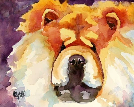 Chow Chow Art Print of Original Watercolor Painting 11x14