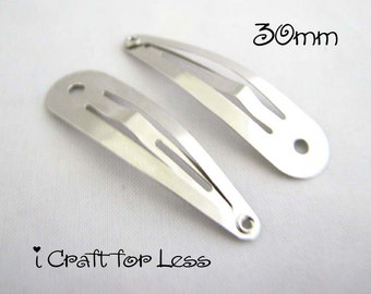 100 Snap Clips w/ Hole - Tear Drop Shape - 30 mm (1 1/4 inches) - SEE COUPON