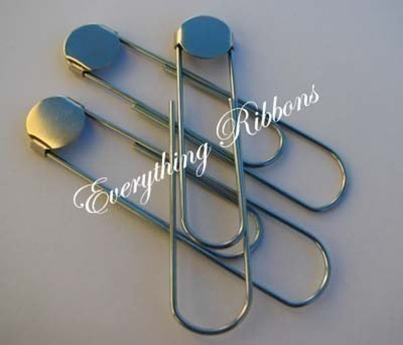6 Large Paper Clips / Bookmarkers with Glue Pad - 3 1/2 inches - 10 PERCENT REFUND