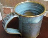 Stoneware Mug in Seafoam, Teal and Olive Green