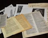 Ephemera-Vintage book pages