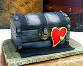 Dark Black Castle mini-Love Chest