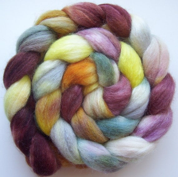 Sweet Orchard - Hand dyed Alpaca/Merino/Silk Combed Top - 4oz