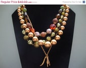 35% OFF Reaching Through Fall Assemblage Necklace