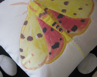 Bug Zoo (moth) printed cushion