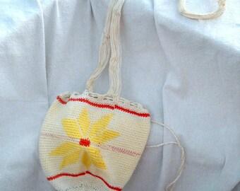Sweet Little Hand Crochet Shoulder Bag Vintage from 30s San Francisco Estate