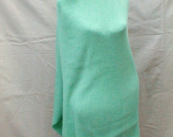 Vintage Tube Knit Fabric Channel  Knitted pretty Mint GREEN easy dress sweater coat turtleneck Sew it Yourself