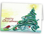 SALE - Christmas cards - 10 cards and envelopes