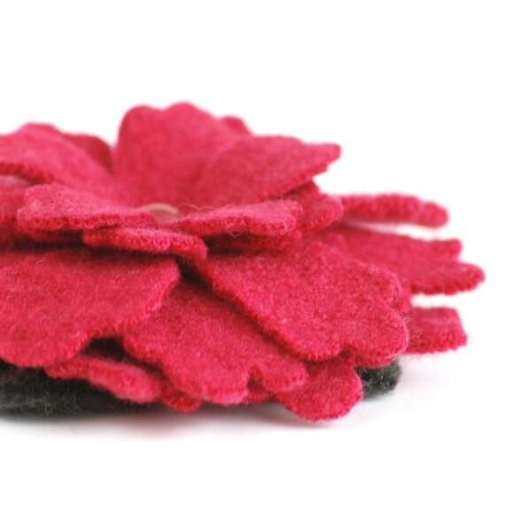 Cherry Pink Flower - Wool Felt Pin