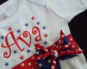 July Forth Onesie - July 4th or Memorial Day Pageant Wear