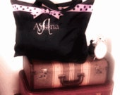 Set of 7 Extra Large Beach Totes or Weekender - Monogrammed/ Personalized- Greek Letters