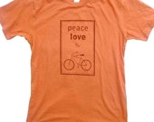 Peace, Love and Bikes Organic Short-Sleeved T-shirt