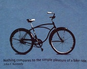 Bicycle Quote Organic T-shirt