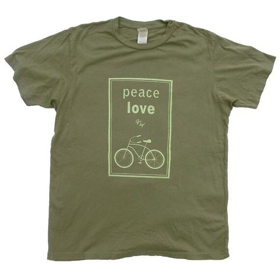 Peace, Love and Bikes Organic Short-sleeved T-shirt