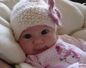 Elizabeth-Newborn Hat. Ready to Ship.