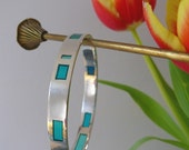 ON SALE - Resin window bangle (turquoise)