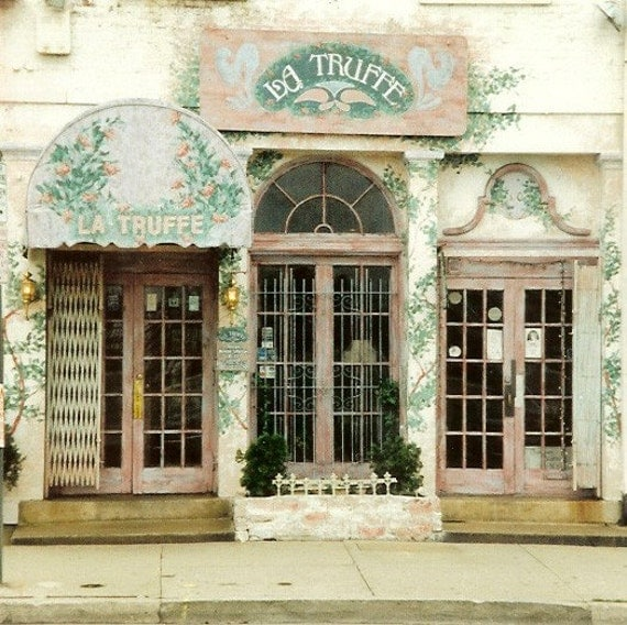 La Truffe - Charming French Cafe - Original Colour Photograph