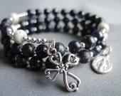 Full 5 Decade Rosary Bracelet w/ Desert Sun Glass