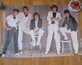 1982 Duran Duran Black and White vintage poster