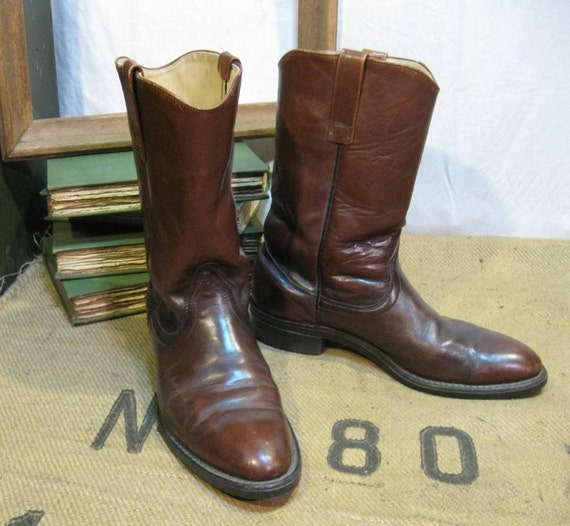 Red Wing Pecos roper vintage boots 11 by funkomavintage on Etsy