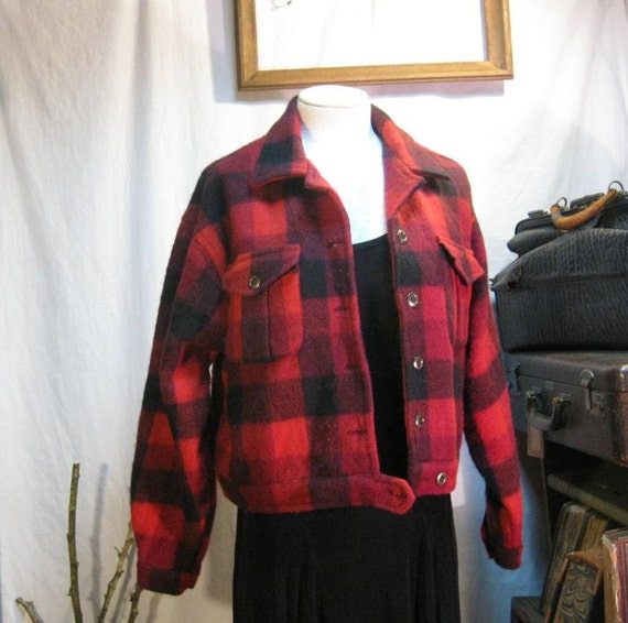 Reserved -- Wool Lumberjack  jacket buffalo Plaid vintage jean style
