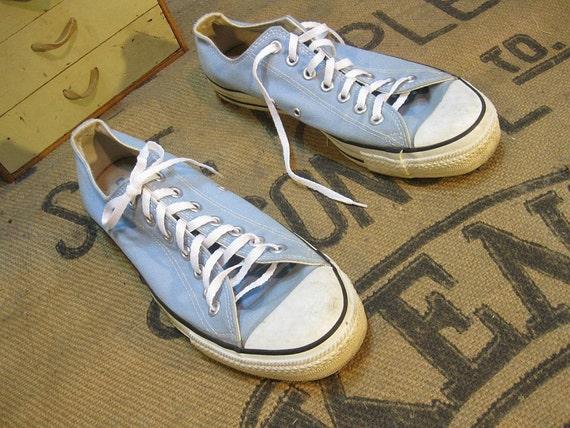 Vintage Baby Blue Converse sneakers 9