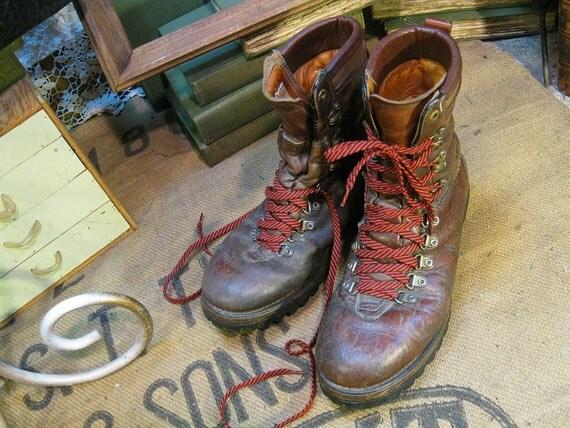 Leather Boots Vintage Herman Survivors Brown 9.5