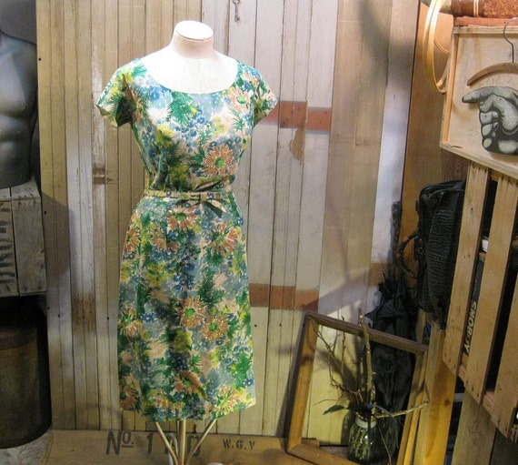 RESERVED 3 Vintage Dresses for J. Glitter Ombre Hawaiian