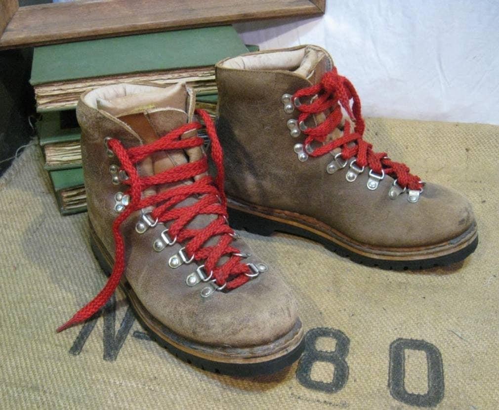 Vintage Kastinger Red Laces Hiking Boots 8 5 9 5