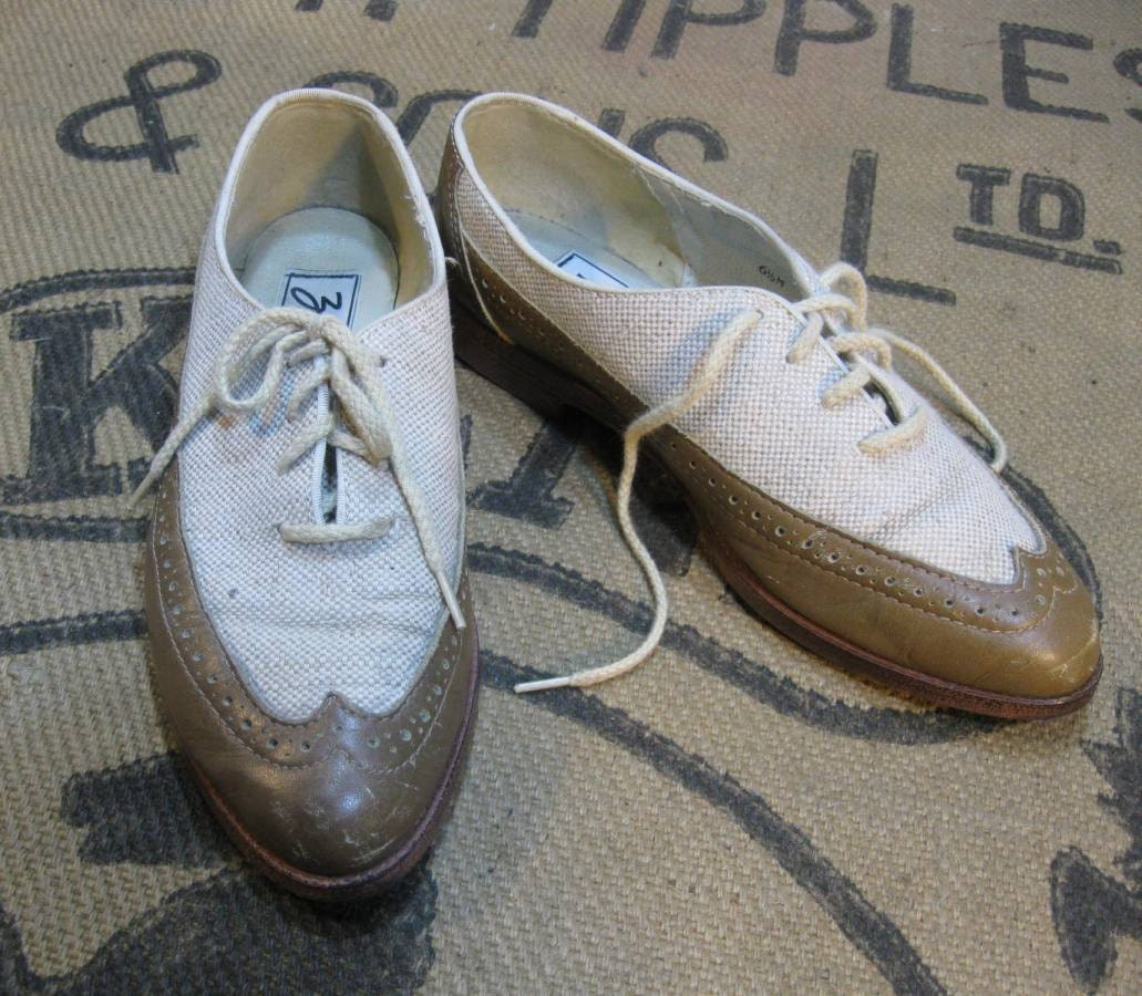 Linen Oxford Shoes Vintage Oxford Shoes Wingtip