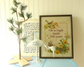Vintage Embroidery Wall Art Handle Life With Prayer
