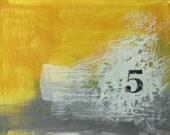 small encaustic original - yellow 5